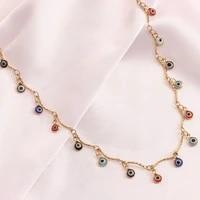 boho evil eyes pendant choker necklace vintage turkish lucky fashion necklace girls neck party jewelry wedding gift goth