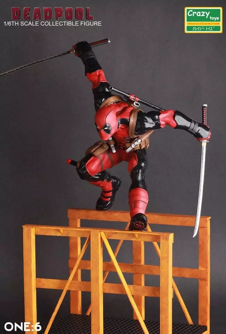 Marvel New Mutants X-Men Deadpool Hurdle Ryan Reynolds Boxed 1/6 Figure Decoration 30CM