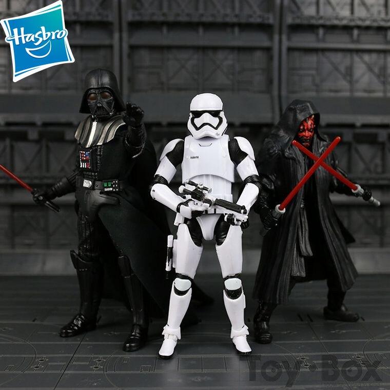 Hasbro star wars filme preto darth vader bobo fett 6 polegadas figuras filme pvc figura de ação anime brinquedos de presente em quadrinhos com caixa