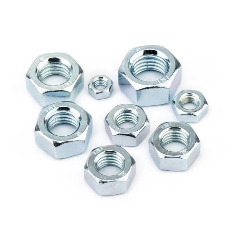 Carbon Steel Hex Hexagon Nuts for M2 M2.5 M3 M4 M5 M6 M8 M10 M12 M14 M16 M18 M20 M22 M24  Screw Bolt