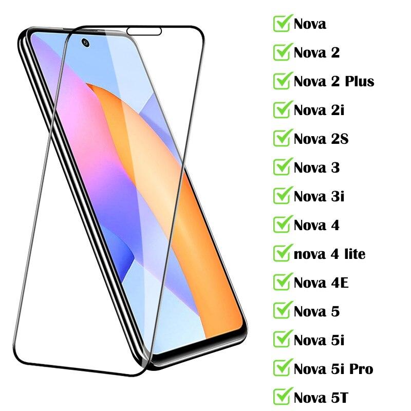 Защитное стекло для Huawei Nova 5T, 2 Plus, 2i, 2S, 3, 3i, 4 lite, 4E, 5, 5i Pro