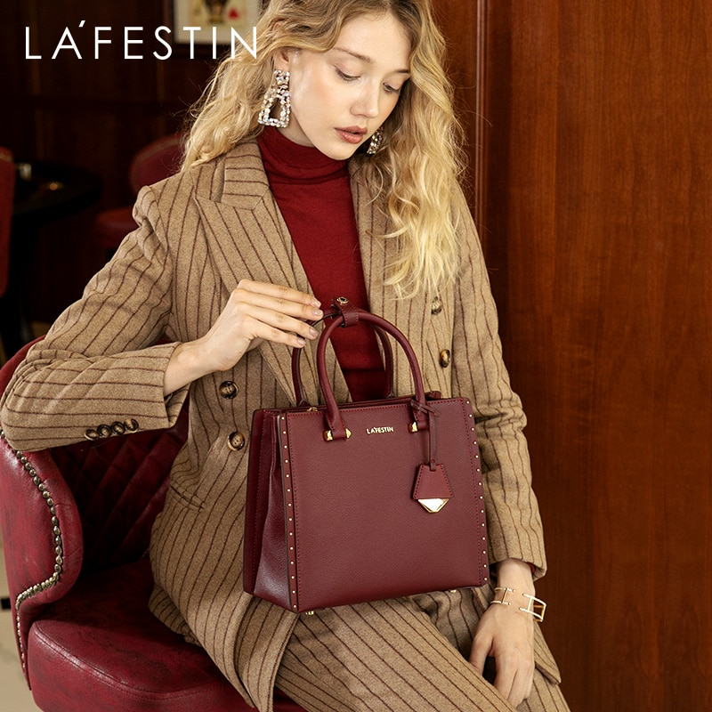 LA FESTIN 2020 New Women Handbag Leather Tote Handbags Luxury Multifunctional Versatile Bag Ladies Luxury Handbags Designer Bag