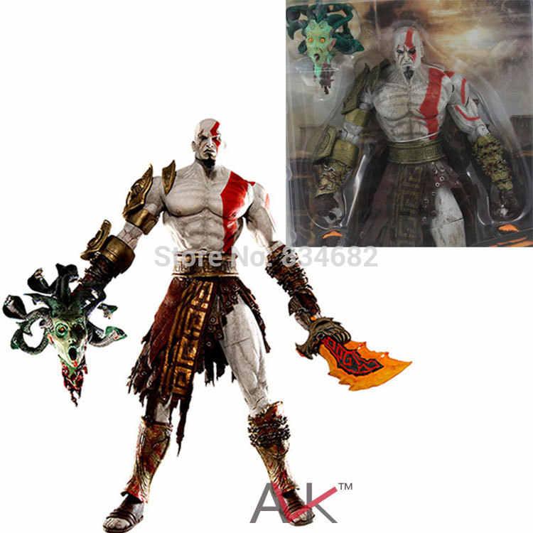 God Of War 18cm Neca God Of War Kratos In Golden Fleece Armor With Medusa Head Pvc Action Figure Collection Model Toy God Of War Model Toytoy Model Aliexpress