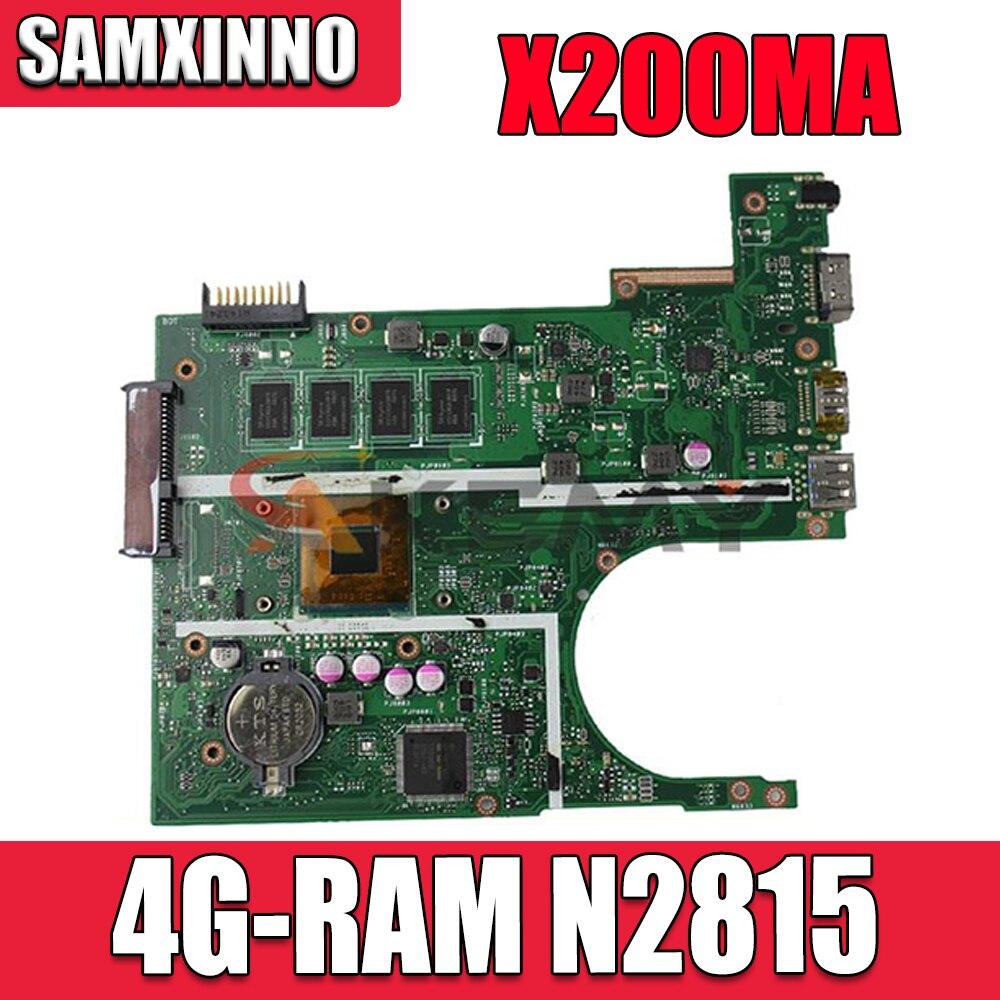 Akemy ل ASUS X200MA F200M F200MA Pentium المحمول اللوحة مع 4 جيجابايت RAM N2815 CPU DDR3 X200MA دفتر اللوحة الرئيسية اختبار ok