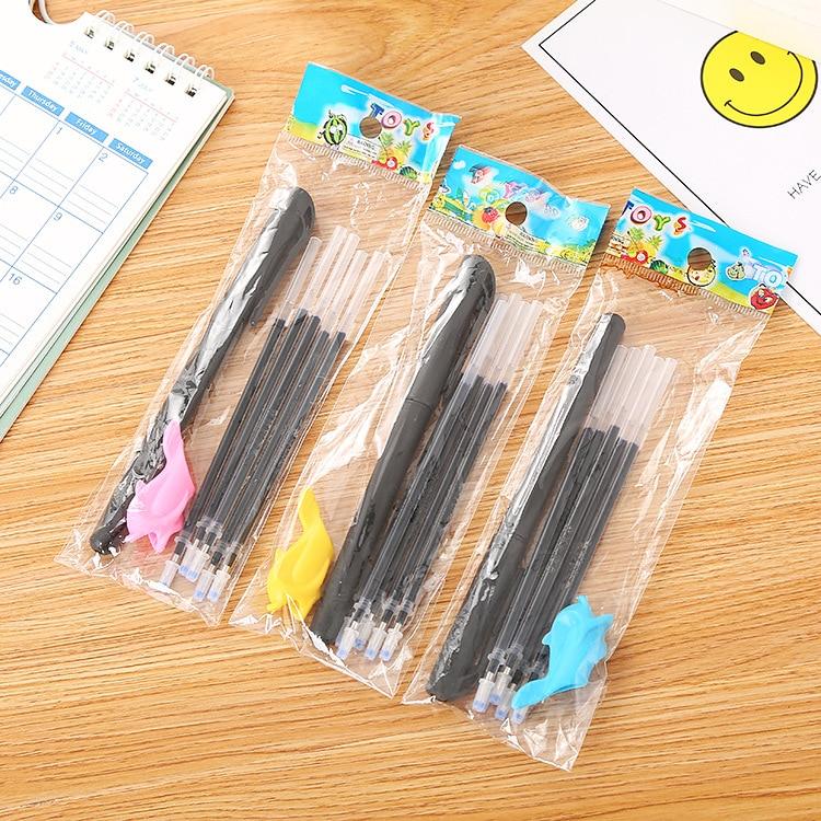 3 unidades de papelería creativa para práctica de estudiantes, juego de pluma para desaparecer, práctica de caligrafía, pluma de atenuación automática, cuaderno, bolígrafo mágico