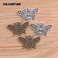 10pcs 1726mm two color bee animal charms pendant findings accessories diy vintage choker necklace