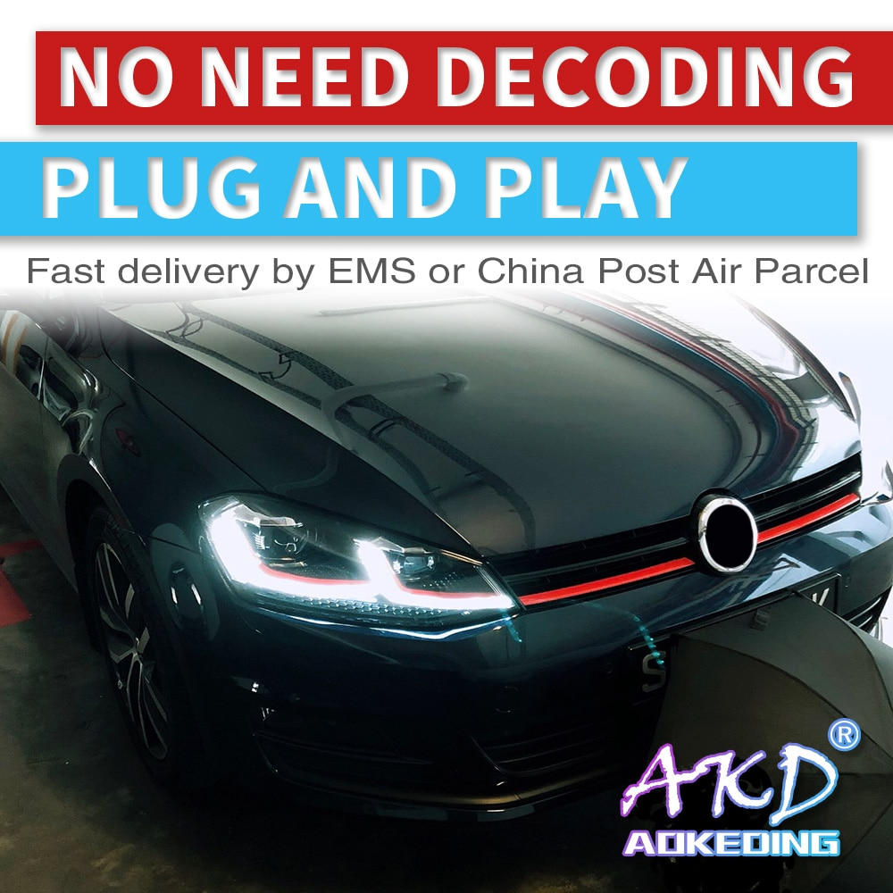 AKD Car Styling for VW Golf 7 MK7 GTI 2013-2017 LED Headlight Golf7.5 Original DRL Hid Dynamic Signal Head Lamp Bi Xenon Beam