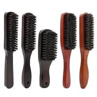 boar bristle beard brush men beard shaving brushes hair brush wooden handle mustache brush salon hairdresser barber beard brush