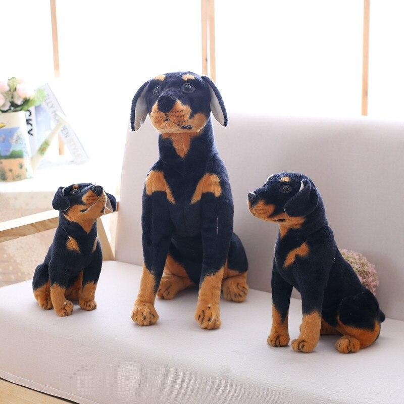 Simulación realista perro negro de peluche de juguete de peluche Animal perro lindo cachorro perro niños regalo en la decoración del hogar Dachshund, Husky