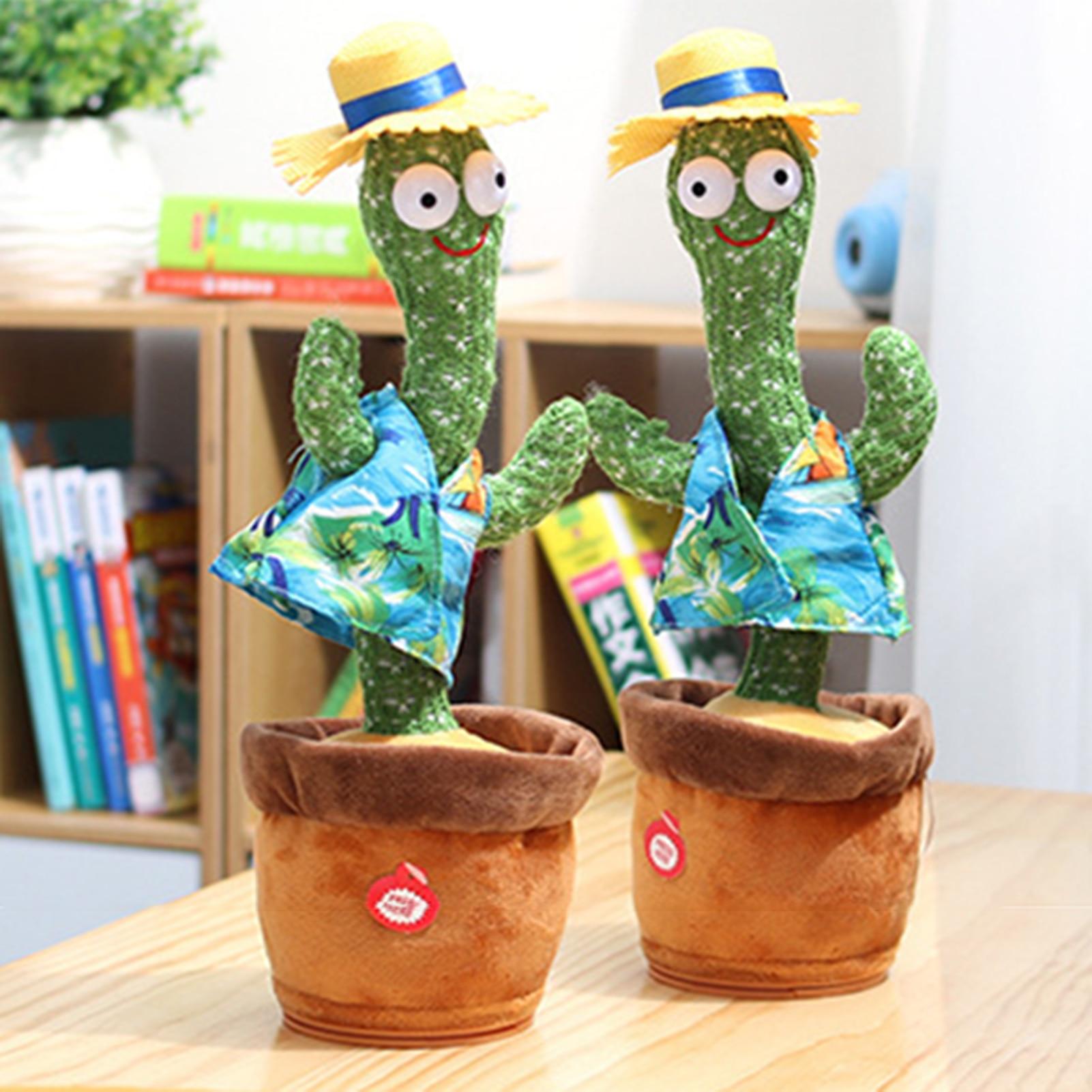Мягкие игрушки для детей, Плюшевые танцы/пение кактуса