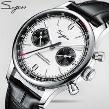 Sugess Panda Seagull Movement st1901 Chronograph Mens Watch 40mm Sapphire Gooseneck Movement Pilot W
