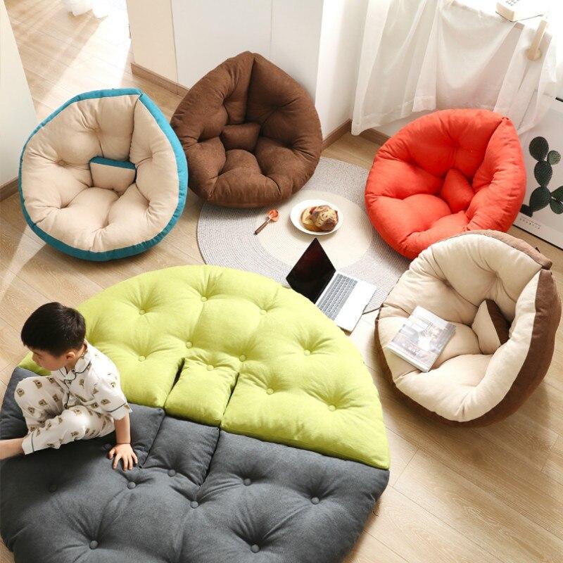أريكة استرخاء قابلة للطي للأطفال والكبار ، مقعد أرضي ، بيضة ، قمر ، حصير ، وسادة مقعد ، ألعاب أطفال