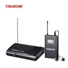 Takstar WPM-200 UHF Wireless Monitor System Empfänger LCD Display 6 Wählbare Kanäle 50m Übertragung mit In-ear-Headset