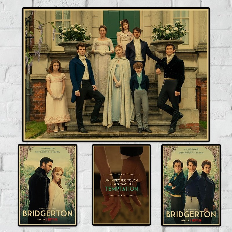 New Arrival Bridgerton Season 1 Good Quality Printed Wall Painting Home Decor Buy 3 Get 4