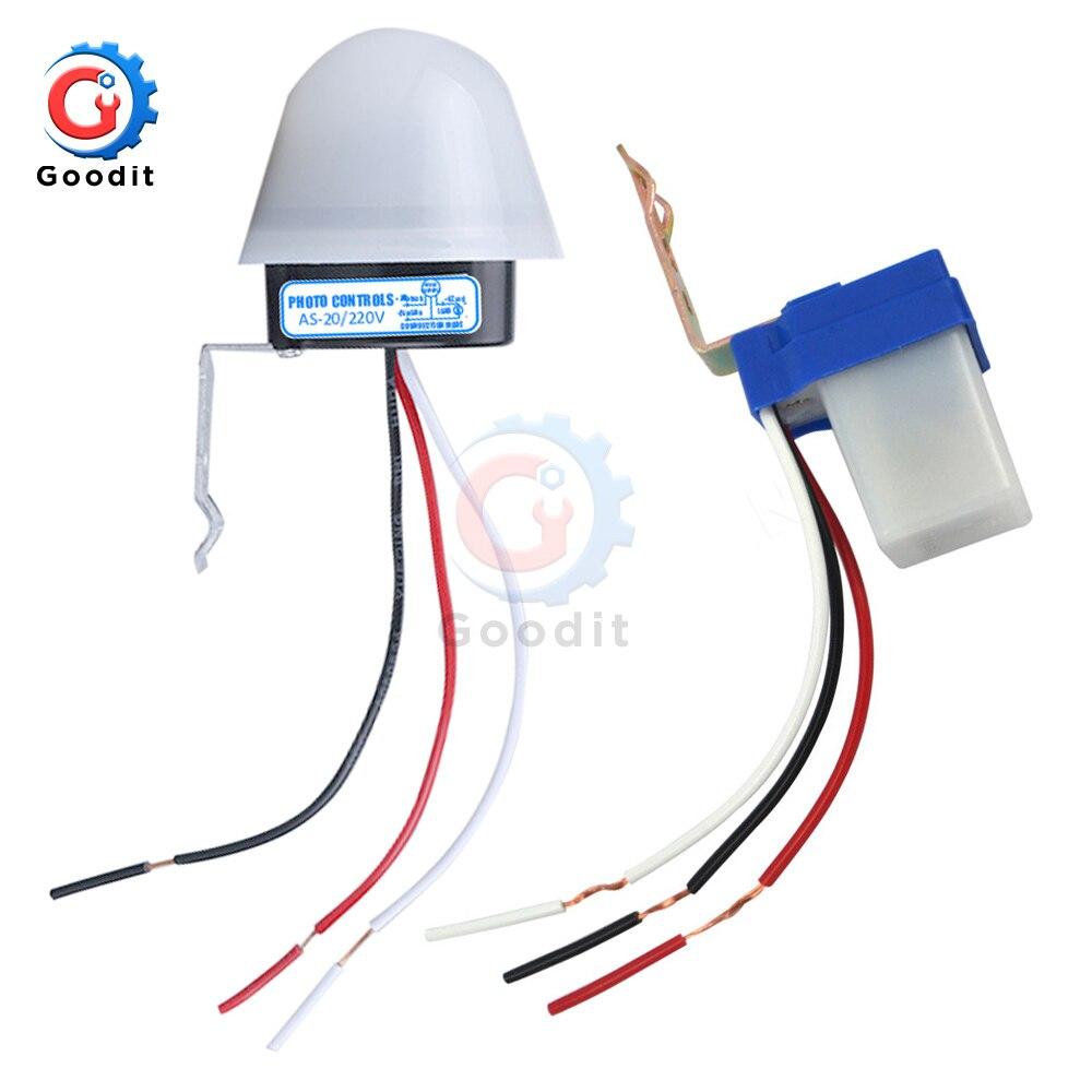 Interruptor sensível impermeável da foto do automóvel as-20 c.c. 12 v ac 110 v 220 v 10a de ligar/desligar ferramentas do interruptor do sensor da luz de rua da fotocélula