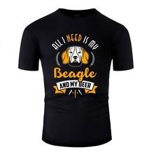 Create Beagle - All I Need Is My Beagle And My Beer Designing Tshirt For Mens Mens Tshirts Short-Sleeve Tee Shirt
