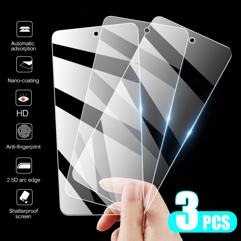 Tempered Protective Glass On For Xiaomi Redmi Note 10 8 9 7 6 5 Pro 8T 9S Screen Protector For Redmi 9A 8A 7A 6A Full Cover Film