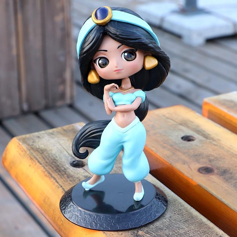 Figuras de Princesas de Disney Aladdín, lámpara Jasmine, juguetes de PVC para...