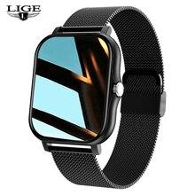 LIGE New Smart Watch Men Women IP67 Waterproof Sport Clock Heart Rate Fitness tracker Sleep Monitor
