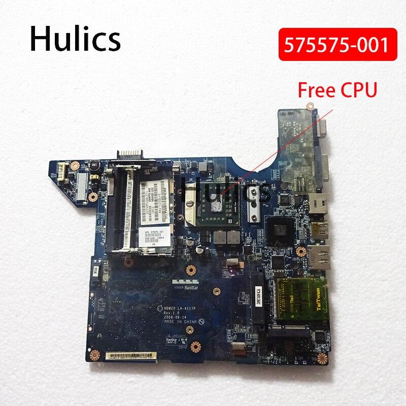 Hulics original 575575-001 apto para hp pavilion DV4-2000 575575 computador portátil placa principal LA-4117P cpu livre