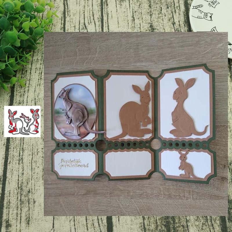 Metal Cutting dies Kangaroo baby Die Cut Scrapbooking Paper Craft Handmade Card Punch Art Cutter Decorative Stencil