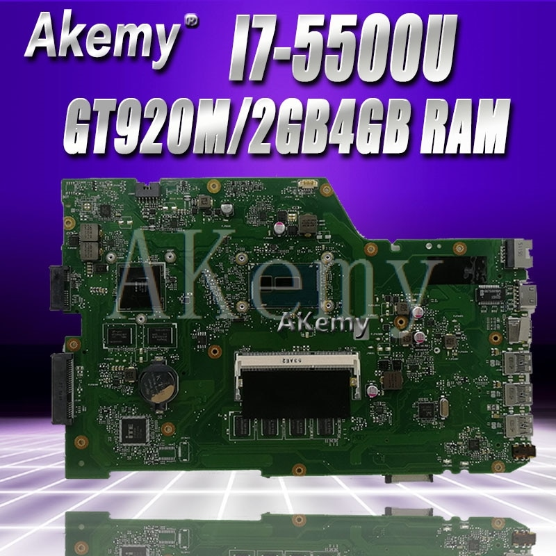 Akem X751LB GT920M/2GB اللوحة ل For Asus X751L R752L K751L X751LN X751LD X751LJ X751LB DDR3 اللوحة المحمول 4GB RAM I7-5500U