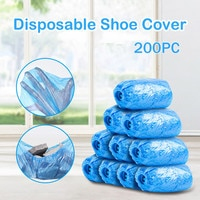 Disposable 200 Pack Shoe Covers Hygienic Boot Cover For Workplace Indoor Carpet Unisex Blue Wear-resistant Durable Shoe Cover