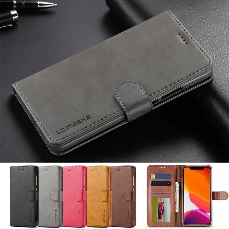 Para iphone 11 Pro Max caso iphone XR X Xs caso para iphone 6 6s 7 7 8 Plus iphone caso SE 5s 5 teléfono caso cuero Flip cartera 11