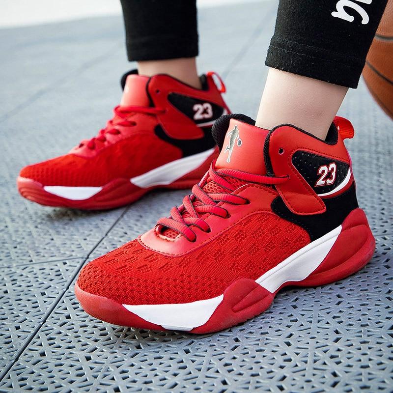 Zapatillas de baloncesto de aire Retro 1 de moda para niños y niñas, zapatillas de baloncesto Kyrie 5 Curry 4, zapatillas deportivas para niños