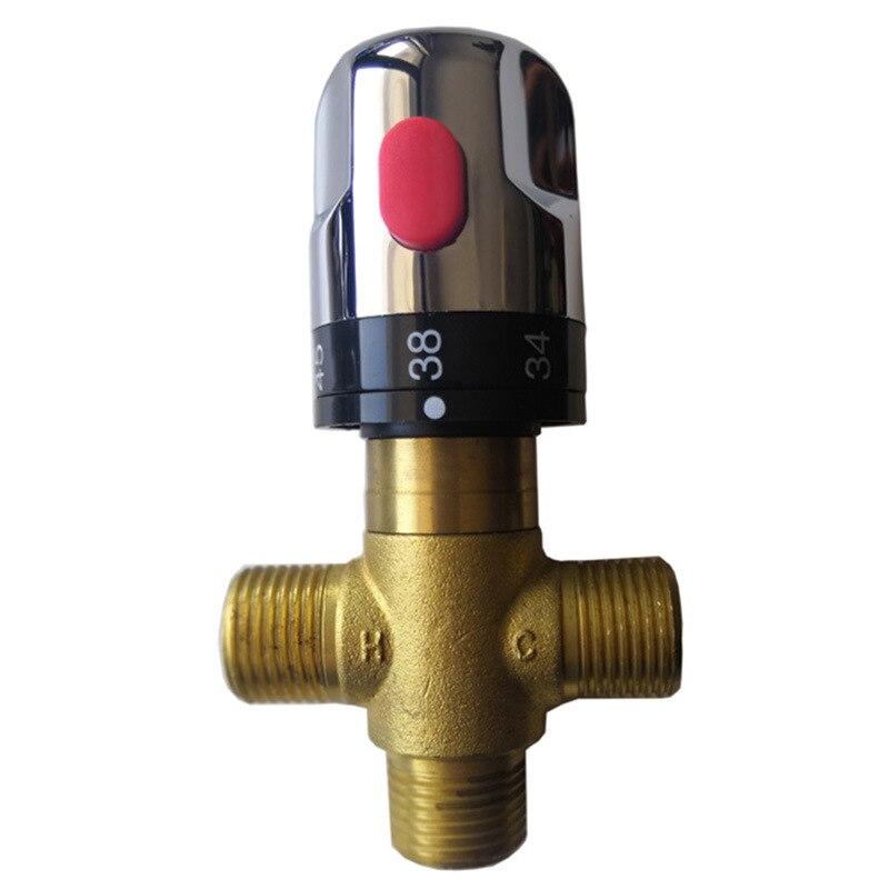 Bronze válvula de mistura termostática chapeamento prata torneira do banheiro controle temperatura mixer válvula termostática melhoria da casa
