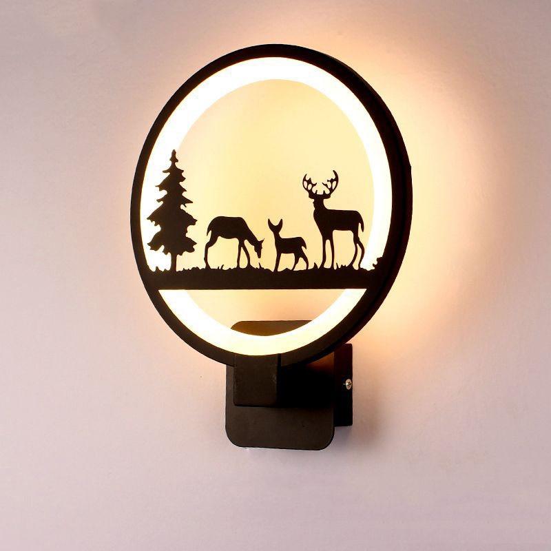 مصباح جداري LED 15 وات ، مصباح حائط إبداعي حديث لغرفة النوم ، غرفة المعيشة ، غرفة الطعام ، المدخل ، الديكور