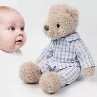 new cute baby appease teddy bear plush toys 30cm super soft stuffed animals doll gentleman style birthday gift for children