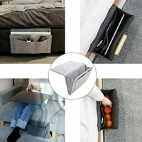 tablet pc phone remote control bedside storage bags bed hanging sundries organizer felt cloth remote bags