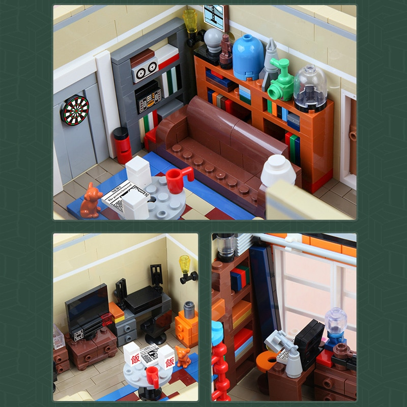 MOULD KING City Street View Toys MOC-34463 Central Park Constructor Building Block Moc Modular Bricks Kits Toys Birthday Gifts