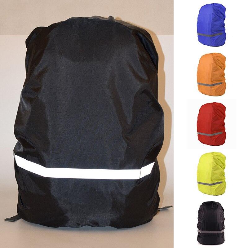 Mochila impermeable portátil para deportes cubierta reflectante a prueba de lluvia para viajes funda de lluvia militar bolsa protectora