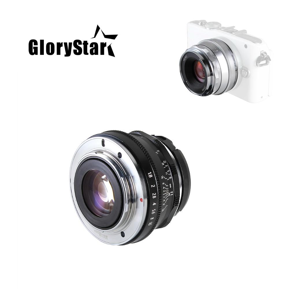 GloryStar 25 مللي متر F1.8 رئيس عدسة التركيز اليدوي MF لباناسونيك أوليمبوس MFT M4/3 جبل GH4 GM1 GX8 G7 G9 E-PL E-M مارك كاميرا PEN-F