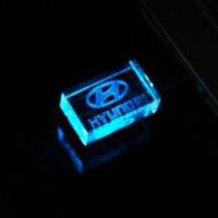 128GB usb metal crystal HYUNDAI 2.0 USB car key model USB 64GB flash drive 4GB 8GB 16GB 32GB gem pen drive special gift