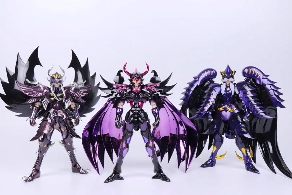 Nueva llegada chuanshen cs Saint Seiya espectros EX Garuda Aiakos Minos Rhadamanthys figura de acción de mito de la armadura de Metal.