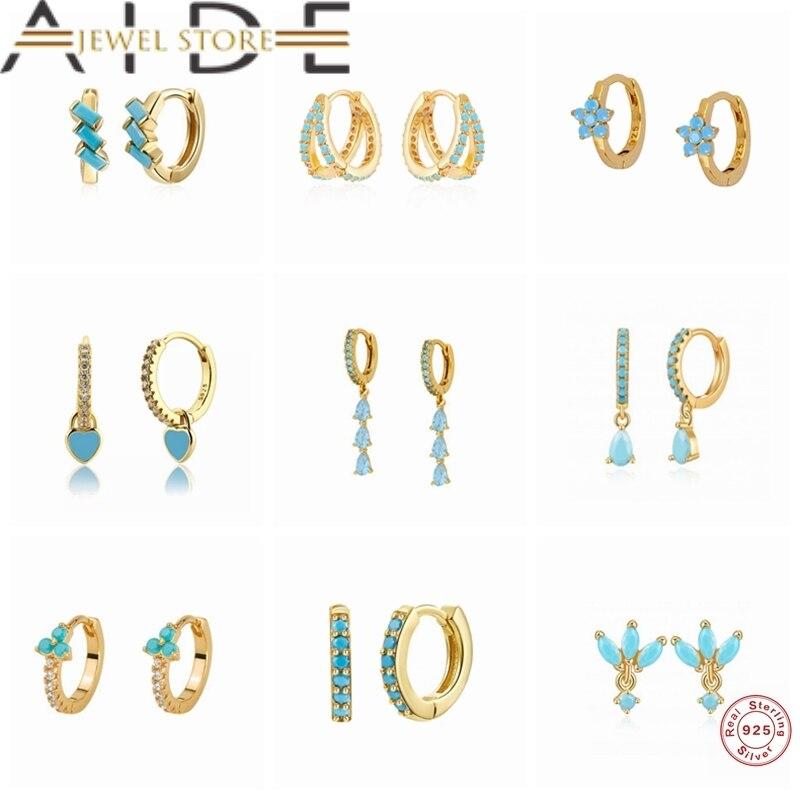 Aide 925 Sterling Silver Earring Pink/White/Purple//Rose red Enamel Dripping Hoop Earrings Women Cha
