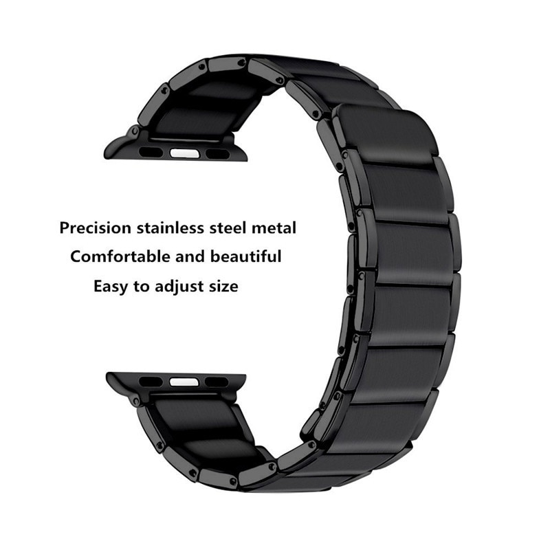 Stainless Steel Watch Band Strap for Apple Watch Band 6 5 4 3 2 1 44mm 40mm 42mm 38mm  Magnetic Loop Watchband Strap for iWatch enlarge