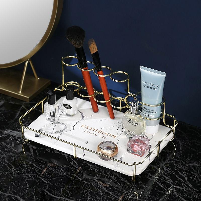 الطبيعية دياتوميت حمام تخزين الرف إبقاء الجافة Mildewproof للحمام اليومي ماكياج و الفم معجون الأسنان فرشاة الأسنان حامل الحديد
