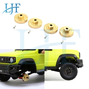 LJF 4pcs Brass Heavy Duty Wheel Hub Combiner for 1/16 RC Car XiaoMi Jimny Xmykc01Cm Upgrade Parts Accessories L131