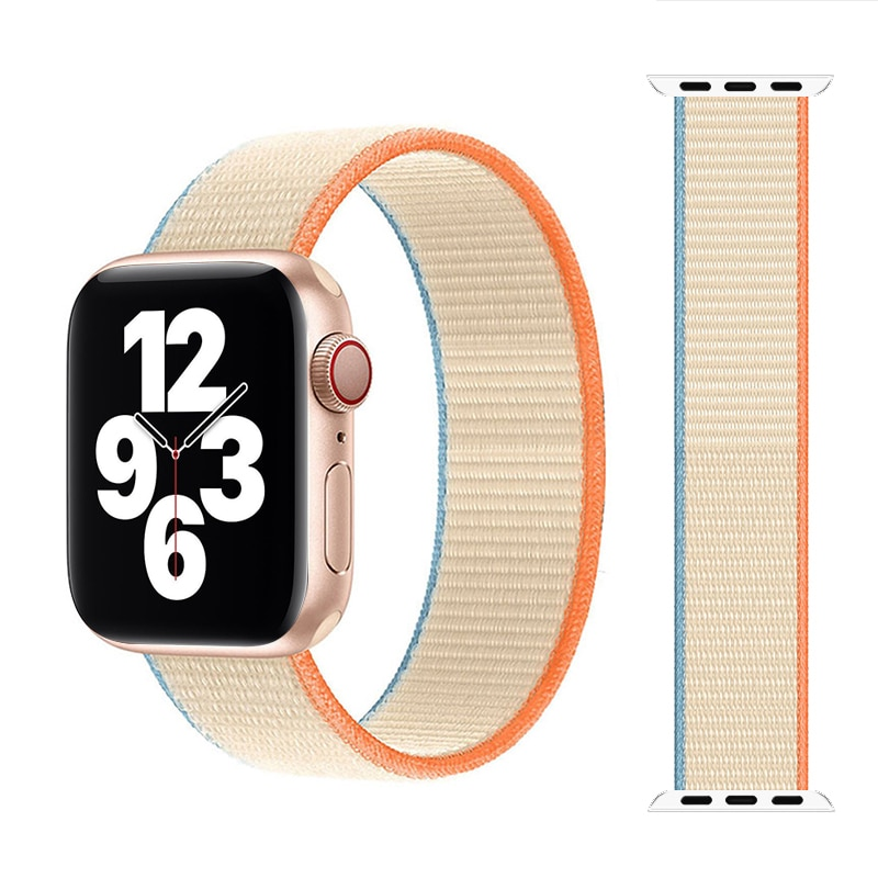 nylon braided solo loop for apple watch band 6 5 3 bands 44mm 40mm 38mm 42mm elastic strap bracelet for iwatch series 6 5 4 2 1 Braided Solo Loop Nylon Breathable Strap For Apple Watch band 44mm 40mm 38mm 42mm Elastic Bracelet for iWatch Series 6 SE 5 4 3