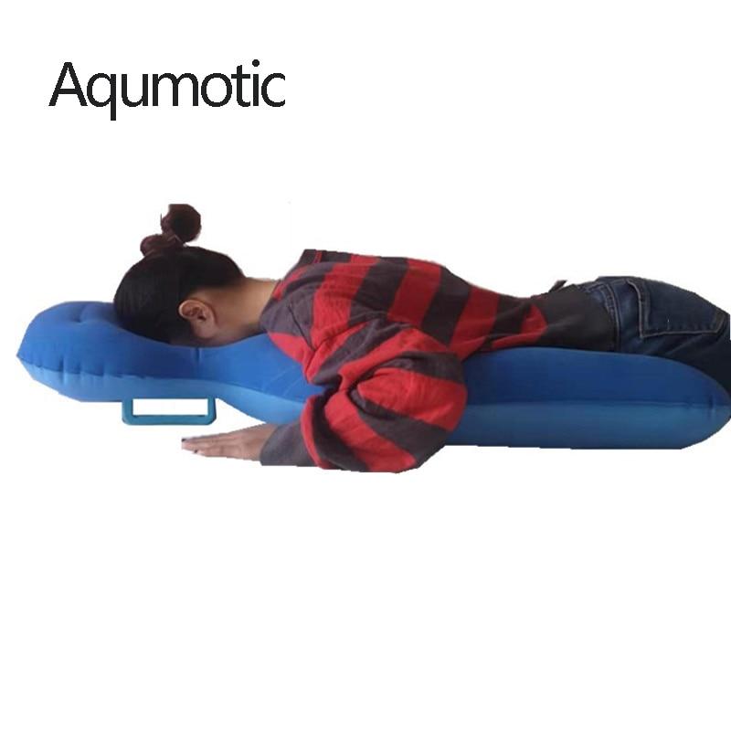 وسادة Aqumotic كبيرة بعد الجراحة ، 90x60 سنتيمتر ، مسامية ، مريحة ، قابلة للنفخ ، علاج طبيعي ، أزرق