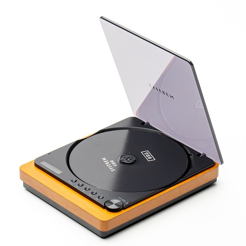 الرجعية مشغل أقراص مضغوطة حمى الصف HIFI مشغل الصوت خشبية سماعة لاسلكية تعمل بالبلوتوث الألياف البصرية الناتج عالية الجودة المهنية لاعب