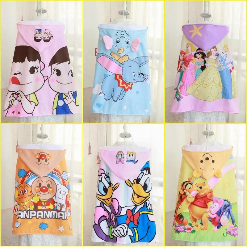 Disney cartoon quick-dry bath towel children hooded beach towel Dumbo Donald duck travel hot spring Mickey princess towels