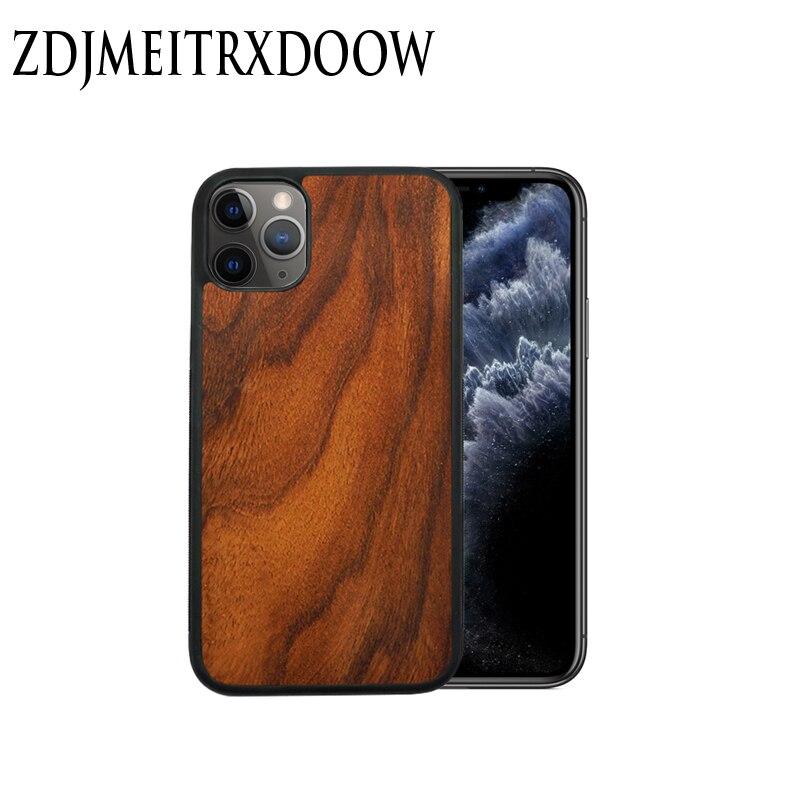 Para iPhone SE 2020 funda para iPhone 11 Pro Zebra madera hecha a mano con patrón para iPhone 7 8 Plus XS MAX XR SE2 cubierta