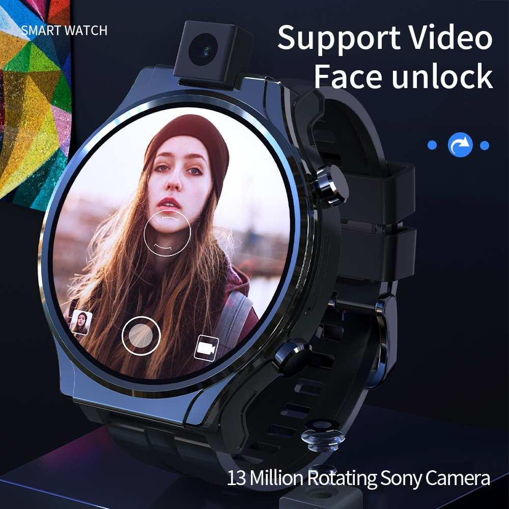 LOKMAT APPLLP PRO Smart Watch Phone 4G Full Netcom Smart Watch 2.1 inch Full Touch Screen Face unlock WIFI SIM Card GPS 1600mAh