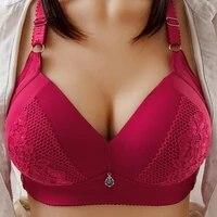 plus size bra bra women wire free bra lace sexy bra woman push up bra adjustable brassiere femme seamless underwear lady