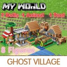 838pcs Castle Village Series My World Ghost Village Building Blocks Bricks Figures Module  Toys For Children Christmas gifts